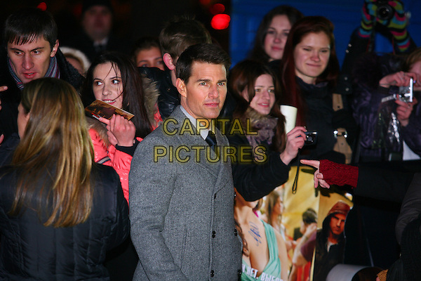 "Tom Cruise.""Mission: Impossible – Ghost Protocol"" premiere, Moscow, Russia..December 8th, 2011.4 MI4 half length grey gray jacket coat .CAP/PER/PK.©PK/PersonaStars/Capital Pictures."