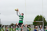 Tralee CBS v Abbeyfeale in the King Cup Rugby Final at Castleisland on Friday.