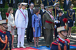 Spanish Royals King Juan Carlos of Spain, Queen Sofia of Spain, Prince Felipe of Spain and Princess Letizia of Spain attend 2014 Spain Armed Forces Day in Madrid, Spain. June 08, 2013. (ALTERPHOTOS/Victor Blanco)