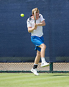 June 11th 2017, Nottingham, England; ATP Aegon Nottingham Open Tennis Tournament day 2;  Ryan James Storrie of Great Britain in action