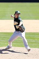 Jared Lansford, Oakland Athletics 2010 minor league spring training..Photo by:  Bill Mitchell/Four Seam Images.