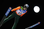 Karl Mustjogi competes during the Normal Hill Ski Jumping event as part of the Winter Universiade Trentino 2013 in Predazzo© Pierre Teyssot