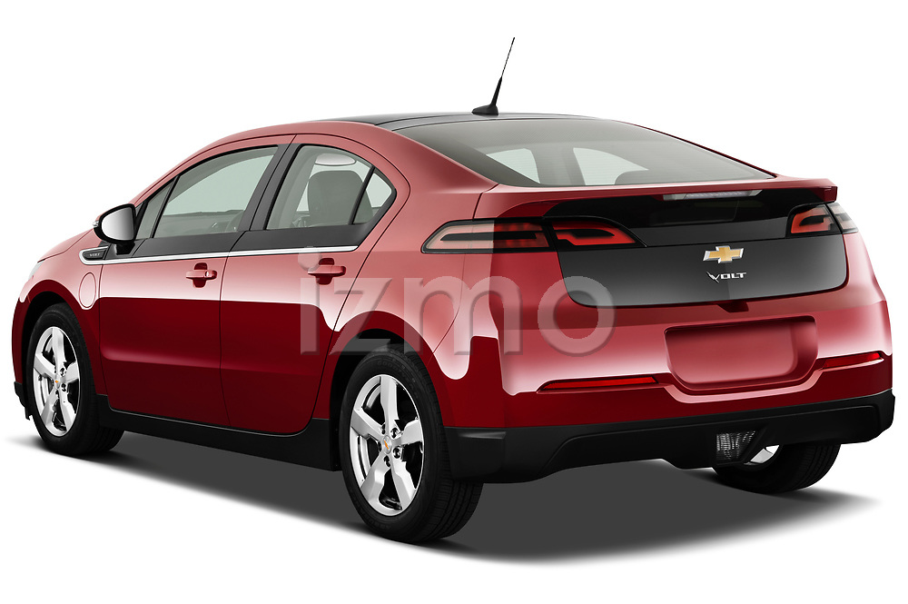 Rear three quarter view of a 2011 Chevrolet Volt