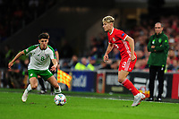 Callum O'Dowda of Republic of Ireland vies for possession with David Brooks of Wales during the UEFA Nations League B match between Wales and Ireland at Cardiff City Stadium in Cardiff, Wales, UK.September 6, 2018