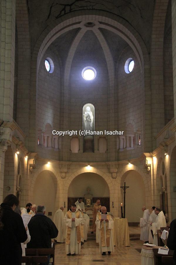 Israel, Shephelah, Christmas at the Trappist Monastery in Latrun