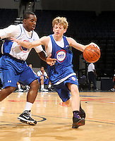 Tyler Lewis at the NBPA Top100 camp June 18, 2010 at the John Paul Jones Arena in Charlottesville, VA. Visit www.nbpatop100.blogspot.com for more photos. (Photo © Andrew Shurtleff)