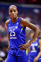 Washington, DC - August 12, 2018: Dallas Wings forward Glory Johnson (25) during game between the Washington Mystics and the Dallas Wings at the Capital One Arena in Washington, DC. (Photo by Phil Peters/Media Images International)