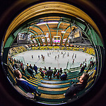20 February 2016: The University of Vermont Catamounts salute their fans at center ice concluding the last regular season game of the year at Gutterson Fieldhouse in Burlington, Vermont. The visiting Boston College Eagles defeated the Catamounts 4-1 in the second game of their weekend series. Mandatory Credit: Ed Wolfstein Photo *** RAW (NEF) Image File Available ***