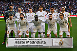 Team photo of Real Madrid during La Liga match between Real Madrid and Atletico de Madrid at Santiago Bernabeu Stadium in Madrid, Spain. February 01, 2020. (ALTERPHOTOS/A. Perez Meca)