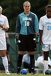 12 September 2009: North Carolina's Ashlyn Harris. The University of North Carolina Tar Heels defeated the Texas A&M University Aggies 2-0 at Fetzer Field in Chapel Hill, North Carolina in an NCAA Division I Women's college soccer game.