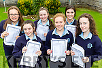 Castleisland Presentaion students delighted with their Junior Certs results on Wednesday l-r: Mary Healy, Faye Conway, Síofra O'Connor, Roisin Marie Scanlon, Moya Sheehan and Laura O'Connell