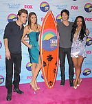 Paul Wesley , Nina Dobrev , Ian Somerhalder  and Kat Graham at FOX's 2012 Teen Choice Awards held at The Gibson Ampitheatre in Universal City, California on July 22,2012                                                                               © 2012 Hollywood Press Agency