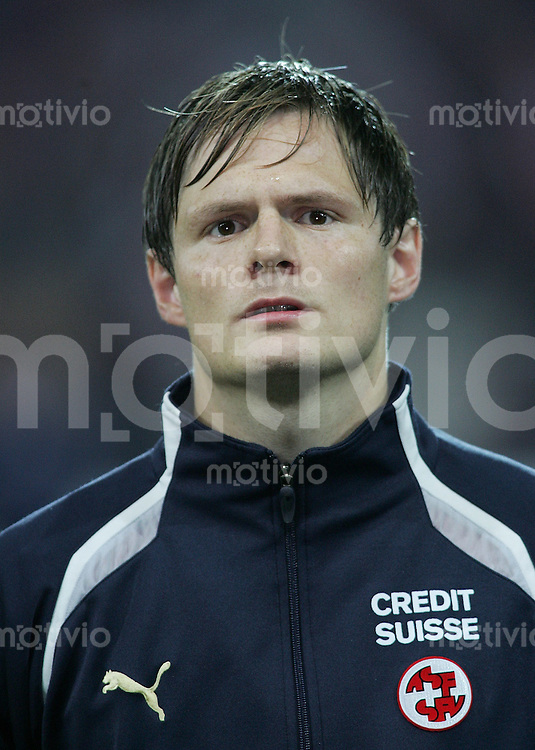 Fussball International WM Qualifikation Schweiz 1-1 Frankreich Portraet, Johann Vogel (SUI)