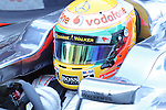 21.02.2012 Barcelona Spain.. Formula One testind day1. Vodafone Mclaren Mercedes with English driver Lewis Hamilton