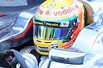 21.02.2012 Barcelona Spain.. Formula One testind day1. Vodafone Mclaren Mercedes with English driver Lewis Hamilton