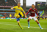 Leeds United's Ezgjan&nbsp;Alioski shields the ball from Aston Villa's Conor Hourihane<br /> <br /> Photographer Alex Dodd/CameraSport<br /> <br /> The EFL Sky Bet Championship - Aston Villa v Leeds United - Sunday 23rd December 2018 - Villa Park - Birmingham<br /> <br /> World Copyright &copy; 2018 CameraSport. All rights reserved. 43 Linden Ave. Countesthorpe. Leicester. England. LE8 5PG - Tel: +44 (0) 116 277 4147 - admin@camerasport.com - www.camerasport.com
