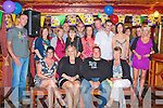 30TH BIRTHDAY: Jason Kerins, Lacca Bawn, Castleisland with his wife Gillian (seated centre) enjoying a great time celebrating his 30th birthday with family and friends at Con's bar, River Island hotel, Castleisland on Saturday.