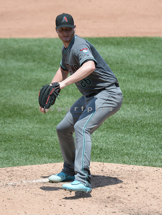 Arizona Diamondbacks Shelby Miller (26) during a game against the Philadelphia Phillies on June 20, 2016 at Citizens Bank Park in Philadelphia, PA. The Diamondbacks beat the Phillies 3-1.