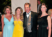United States Senator Scott Brown (Republican of Massachusetts), right center, his wife, Gail Huff, left, and daughters Arianna, left center, and Ayla, right, arrive at the Washington Hilton Hotel for the 2010 White House Correspondents Association Annual Dinner in Washington, D.C. on Saturday, May 1, 2010.  From left to right: Gail Huff.Credit: Ron Sachs / CNP.(RESTRICTION: NO New York or New Jersey Newspapers or newspapers within a 75 mile radius of New York City)