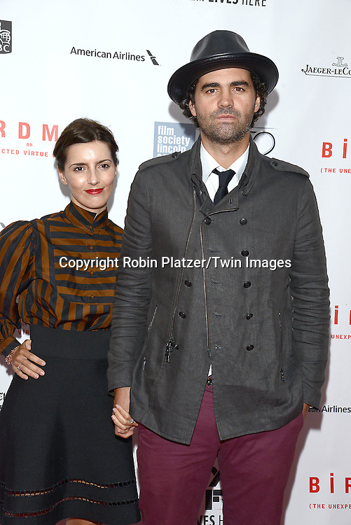 writer Armando Boand wife Luciana  attend &quot;Birdman or The Unexpected Virtue of Ignorance&quot; screening at The 52nd New York Film Festival on October 11, 2014 at Alice Tully Hall in New York City. <br /> <br /> photo by Robin Platzer/Twin Images<br />  <br /> phone number 212-935-0770