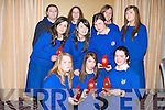 SECOND PLACE: Joint second place winners at the Religion Quiz in Fel's Point Hotel on Tuesday were two teams from St. Bridgid's secondary School in Killarney. From front l-r were: Danielle O'Sullivan, Meadhbh Daly and Aoife Thanner. Middle row l-r were: Catherine casey, Grainne Breen and Miriam Healy. Back l-r were: Heather O'Donoghue, Emma McCarthy, Jennifer Courtney and Elaine Spillane..   Copyright Kerry's Eye 2008