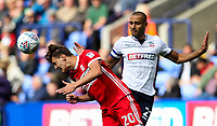 Middlesbrough's  Dael Fry competing woth Bolton Wanderers' Darren Pratley<br /> <br /> Photographer Andrew Kearns/CameraSport<br /> <br /> The EFL Sky Bet Championship - Bolton Wanderers v Middlesbrough - Saturday 9th September 2017 - Macron Stadium - Bolton<br /> <br /> World Copyright &copy; 2017 CameraSport. All rights reserved. 43 Linden Ave. Countesthorpe. Leicester. England. LE8 5PG - Tel: +44 (0) 116 277 4147 - admin@camerasport.com - www.camerasport.com