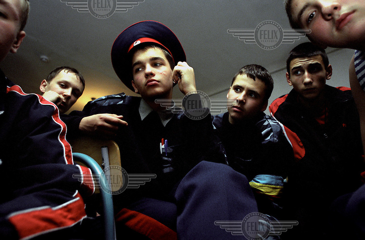 Young recruits at the Novocherkassk Cossack Academy...