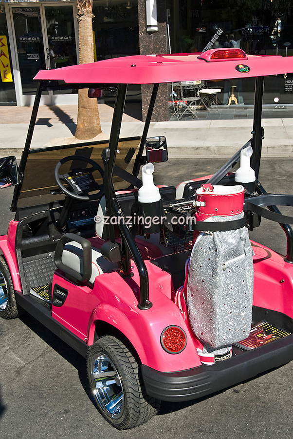 Golf Cart Pink Silver Glittered Golf Bag, Custom, Classic, Unique,