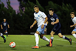 06 October 2015: North Carolina's Zach Wright (10) and UNCW's Matt Gianfortone (20). The University of North Carolina Tar Heels hosted the University of North Carolina Wilmington Seahawks at Fetzer Field in Chapel Hill, NC in a 2015 NCAA Division I Men's Soccer match. North Carolina won the game 3-0.