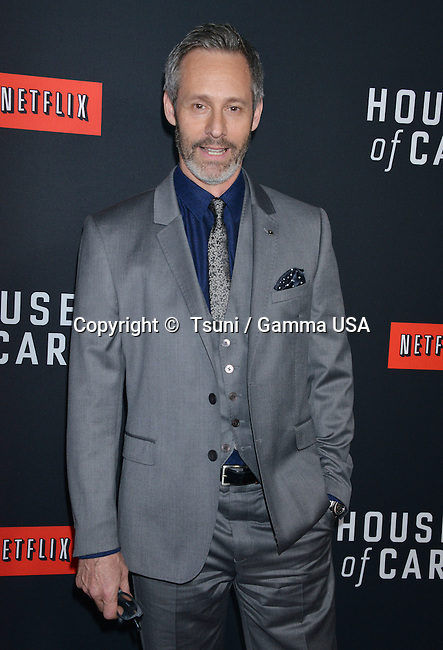 Michel Gill    arriving at The House Of Cards Premiere at the DGA Theatre in Los Angeles.