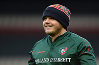 Luke Hamilton of Leicester Tigers looks on during the pre-match warm-up. European Rugby Champions Cup match, between Leicester Tigers and Castres Olympique on October 21, 2017 at Welford Road in Leicester, England. Photo by: Patrick Khachfe / JMP