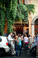 'Ai Tre Scalini' popular bar in the Rione Monti region of Rome, Italy