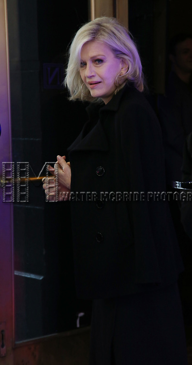 """Diane Sawyer attends the Broadway Opening Night Arrivals for """"Angels In America"""" - Part One and Part Two at the Neil Simon Theatre on March 25, 2018 in New York City."""