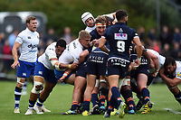 Forwards in action at a maul. Pre-season friendly match, between Edinburgh Rugby and Bath Rugby on August 17, 2018 at Meggetland Sports Complex in Edinburgh, Scotland. Photo by: Patrick Khachfe / Onside Images