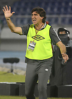 BARRANQUILLA -COLOMBIA-22-OCTUBRE-2014. Diego Costas director tecnico  del Independiente Santa Fe  durante   partido de ida  against Atletico Junior por la semifinal de  la Copa Postobon  disputado en el estadio Metropolitano. / Diego Costas coach of Independiente Santa fe during match against Atletico Junior  of the semifinals of the Copa Postobon played at Metropolitan Stadium. Photo: VizzorImage / Alfonso Cervantes / Stringer