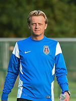 20170825 - WONDELGEM , BELGIUM : VV Alkmaar's coach Gideon Dijks   pictured during a friendly game between KAA Gent Ladies and VV Alkmaar  during the preparations for the 2017-2018 season , Friday 25 August  2017 ,  PHOTO Dirk Vuylsteke | Sportpix.Be