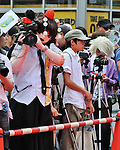 "August 3, 2013, Nagoya, Aichi, Japan : Participants march during the red carpet ceremony for the ""World cosplay summit 2013"" in Nagoya, Aichi prefecture, Japan, on August 3, 2013. (Photo by AFLO)"