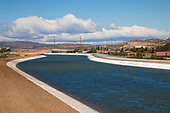 The California Aqueduct is the state's largest and longest water transport system, stretching 444 miles from the Sacramento-San Joaquin Delta in the north to Southern California, Palmdale, Los Angeles County, California, USA