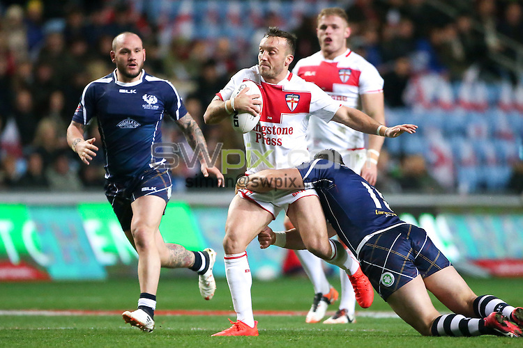 Picture by Alex Whitehead/SWpix.com - 05/11/16 - Rugby League - 2016 Ladbrokes Four Nations - England v Scotland - Ricoh Arena, Coventry, England - England's Josh Hodgson.