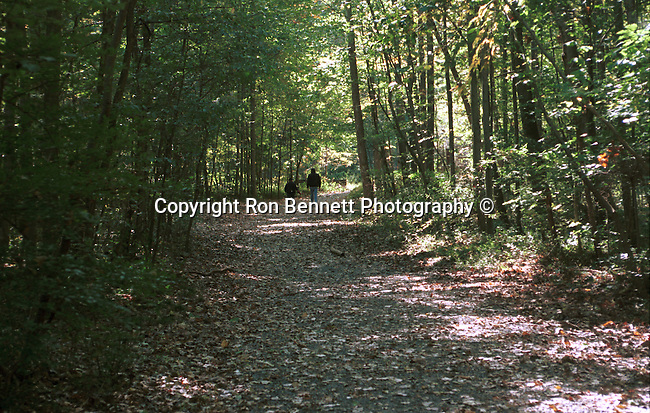 People walk on wooded trail Great Falls Commonwealth of Virginia, Fine Art Photography by Ron Bennett, Fine Art, Fine Art photography, Art Photography, Copyright RonBennettPhotography.com ©