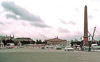 Paris: Place de la Concorde. Looking south over the Seine River to the National Assembly. Photo '87.