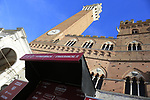 Piazza Del Campo finish of Strade Bianche 2019 running 184km from Siena to Siena, held over the white gravel roads of Tuscany, Italy. 9th March 2019.<br /> Picture: Eoin Clarke | Cyclefile<br /> <br /> <br /> All photos usage must carry mandatory copyright credit (&copy; Cyclefile | Eoin Clarke)