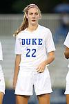 12 September 2013: Duke's Malinda Allen. The Duke University Blue Devils hosted the University of Miami Hurricanes at Koskinen Stadium in Durham, NC in a 2013 NCAA Division I Women's Soccer match. Duke won the game 3-0.