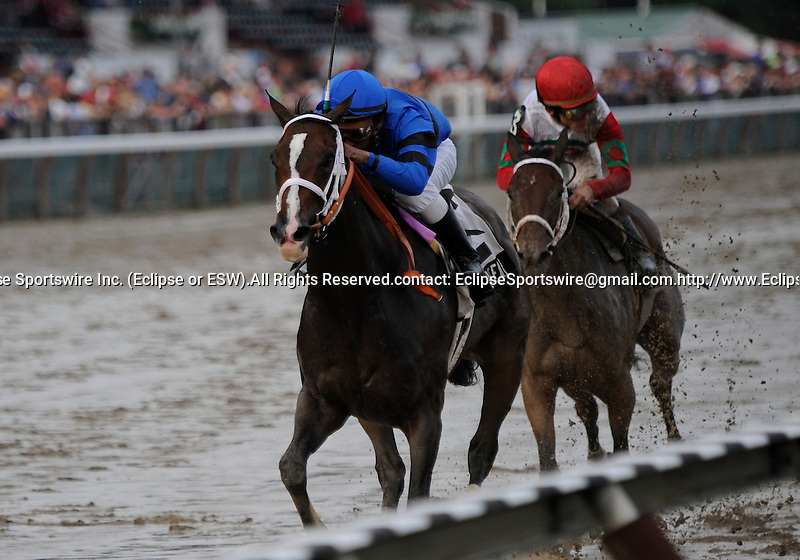 09 July 31: Rajiv Maragh rides Be Fair (no. 2) to victory in the 14th running of the grade 3 Lake George Stakes for three year old fillies at Saratoga Race Track in Saratoga Springs, New York.
