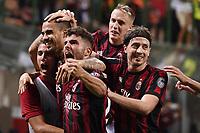 Milano 27-08-2017 Stadio Giuseppe Meazza in San Siro Calcio Serie A 2017/2018 Milan - Cagliari Foto Imagesport/Insidefoto <br /> nella foto: esultanza gol Suso