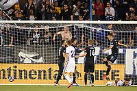 SAN JOSE, CA - JULY 16: Chris Wondolowski #8 of the San Jose Earthquakes celebrates scoring with teammates during a friendly match between the San Jose Earthquakes and Real Valladolid on July 16, 2019 at Avaya Stadium in San Jose, California.