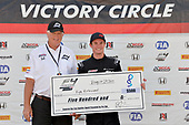 F4 US Championship<br /> Rounds 13-14-15<br /> Virginia International Raceway, Alton, VA USA<br /> Sunday 27 August 2017<br /> 8, Kyle Kirkwood, victory lane<br /> World Copyright: Gavin Baker<br /> LAT Images
