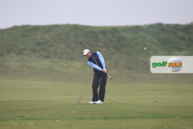 Patrick Mullins (WAL) on the 3rd fairway during Round 3 of the Flogas Irish Amateur Open Championship at Royal Dublin on Saturday 7th May 2016.<br /> Picture:  Thos Caffrey / www.golffile.ie