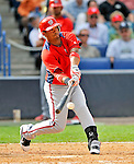 5 March 2011: Washington Nationals' infielder Alberto Gonzalez connects during a Spring Training game against the New York Yankees at George M. Steinbrenner Field in Tampa, Florida. The Nationals defeated the Yankees 10-8 in Grapefruit League action. Mandatory Credit: Ed Wolfstein Photo