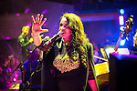 "© Joel Goodman - 07973 332324 . 05/02/2016 . Manchester , UK . ROWETTA IDAH . "" Hacienda Classical "" debut at the Bridgewater Hall . The 70 piece Manchester Camerata and performers including New Order's Peter Hook , Shaun Ryder , Rowetta Idah , Bez and Hacienda DJs Graeme Park and Mike Pickering mixing live compositions . Photo credit : Joel Goodman"